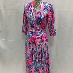 Lilly Pulitzer NWT Marvista Wrap Maxi Dress, L